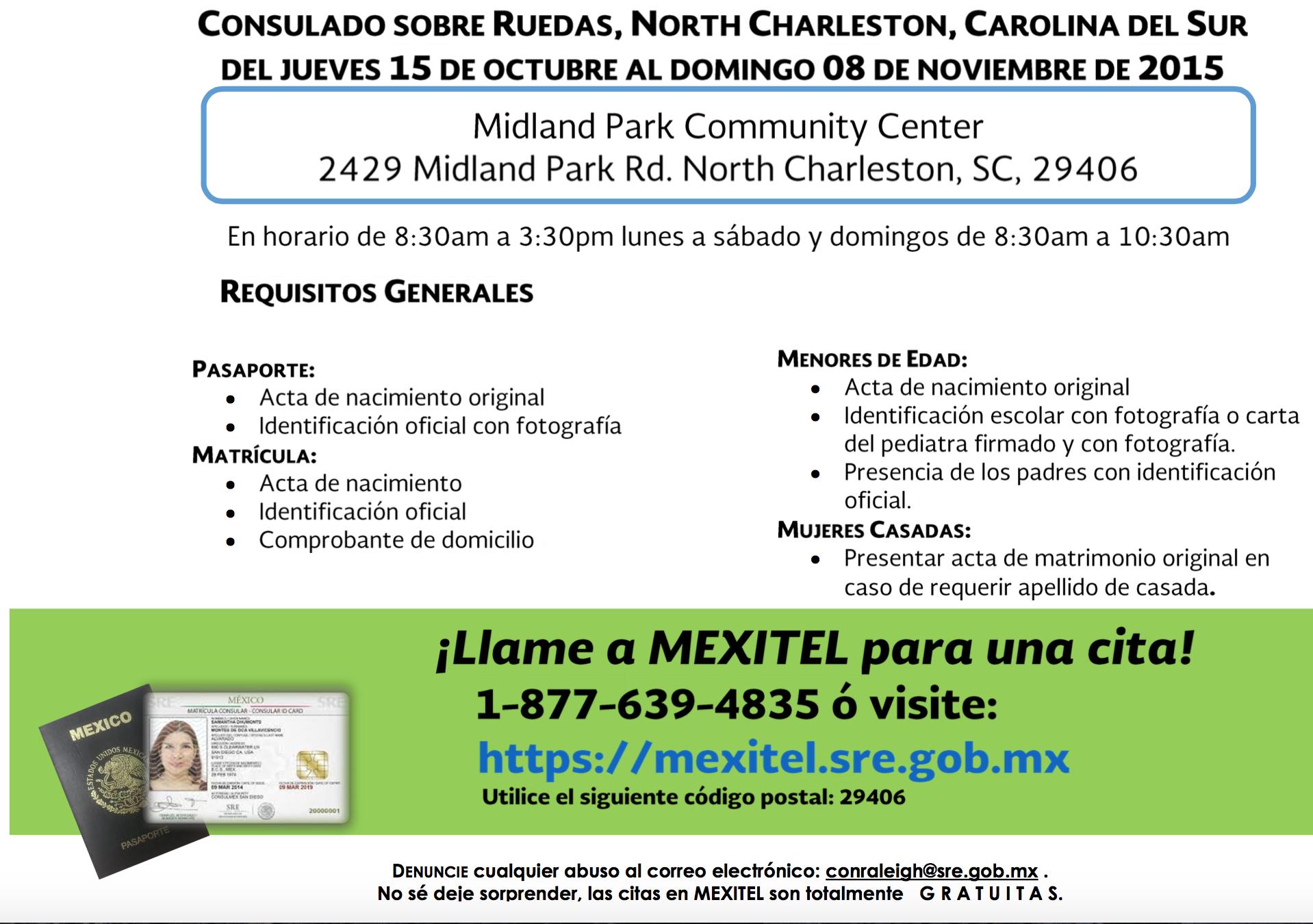 Consulado Móvil Mexicano llegará a North Charleston 7 y 8 de mayo ...